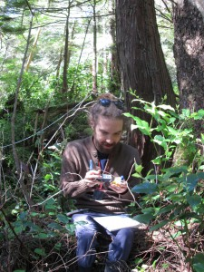SFU Student Cody Gold during a Field Course about Human-Ecosystem Resilience in Resource and Environmental Management