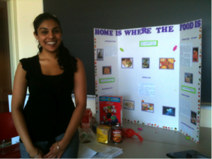 Student presenting at mini-conference