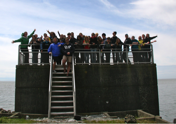 Students and instructors at the Iona Outflow